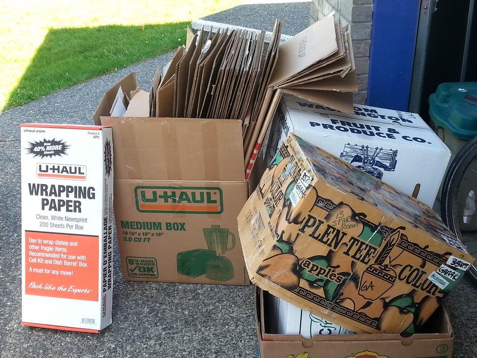 Moving Boxes Uhaul And Uhaul White Moving Paper North