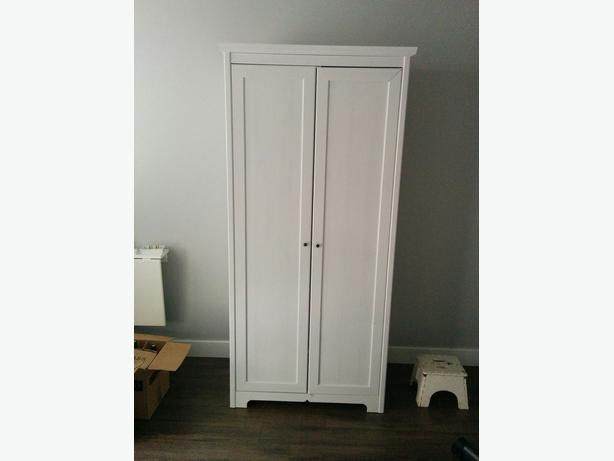 ikea aspelund wardrobe with 2 doors white 199 retail. Black Bedroom Furniture Sets. Home Design Ideas