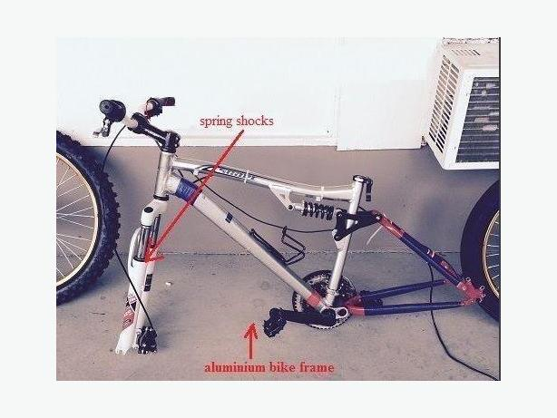 Aluminimum frame with front spring suspension (or $100)