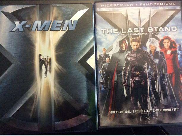 3 X-Men films on DVD