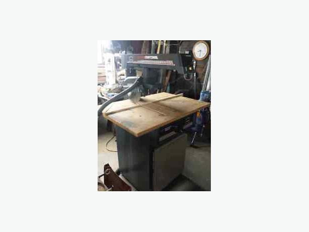 10 inch Crafts man radial arm saw with stand 120 obo