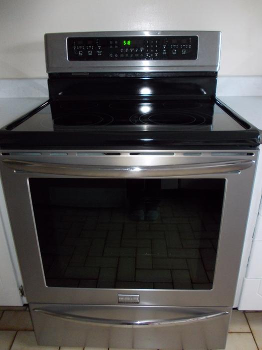Flat Top Stove ~ Frigidare flat top stove white quot stainless steel central