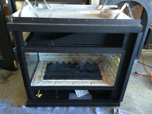Frontier 2 sided gas fireplace