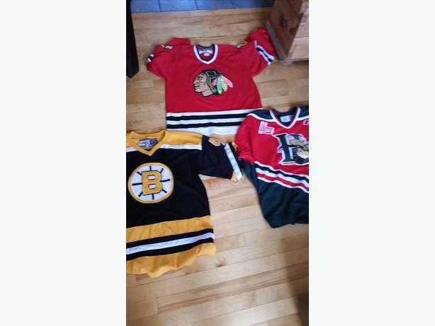 2 NHL hockey jerseys, 1 QMJHL hockey jersey