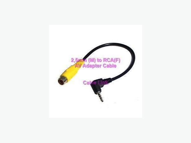 2.5mm 3 Prone (M) to 1 RCA (F) AV Adapter Cable