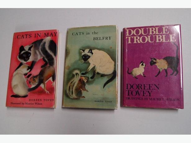 Vintage books Cats in May, Cats in the Belfry Double Trouble