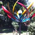Long Leaf Solar Windmill Yard Ornament Brand New