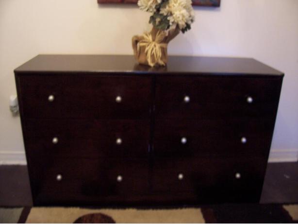 stylish expresso 6 drawer dresser chest for sale i deliver gloucester ottawa. Black Bedroom Furniture Sets. Home Design Ideas