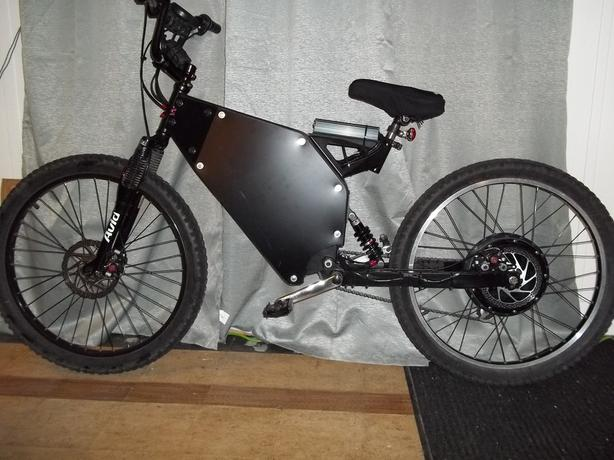 Electric Mountain Bike 72V/3600W ( Normal Double Suspension )
