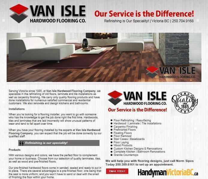 Van Isle Hardwood Flooring Refinishing Floors Victoria