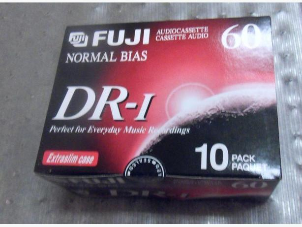 Box of 10 Fuji DR-I 60 Audio Cassettes New!