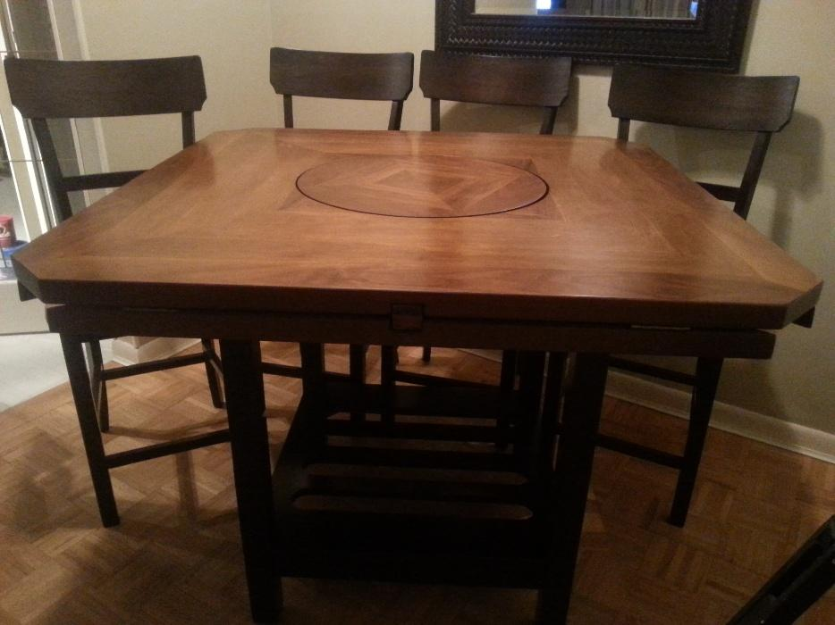 Bar height dining table and chairs east regina
