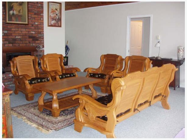 7 Piece Burmese Teak Sofa Set