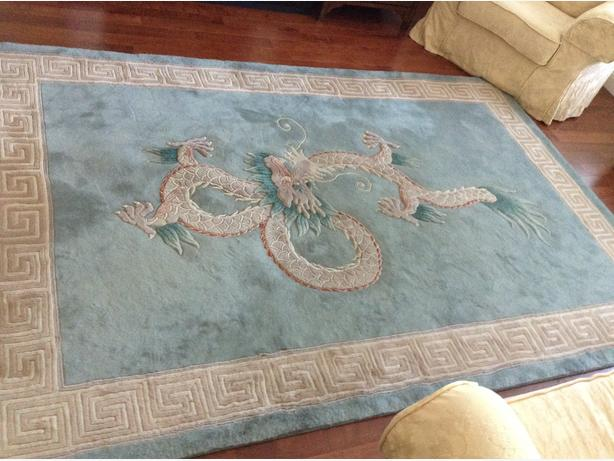 Pure wool chinese area rug.