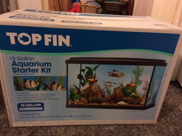 Brand new 15 gallon tank east regina regina for 50 gallon fish tank starter kit