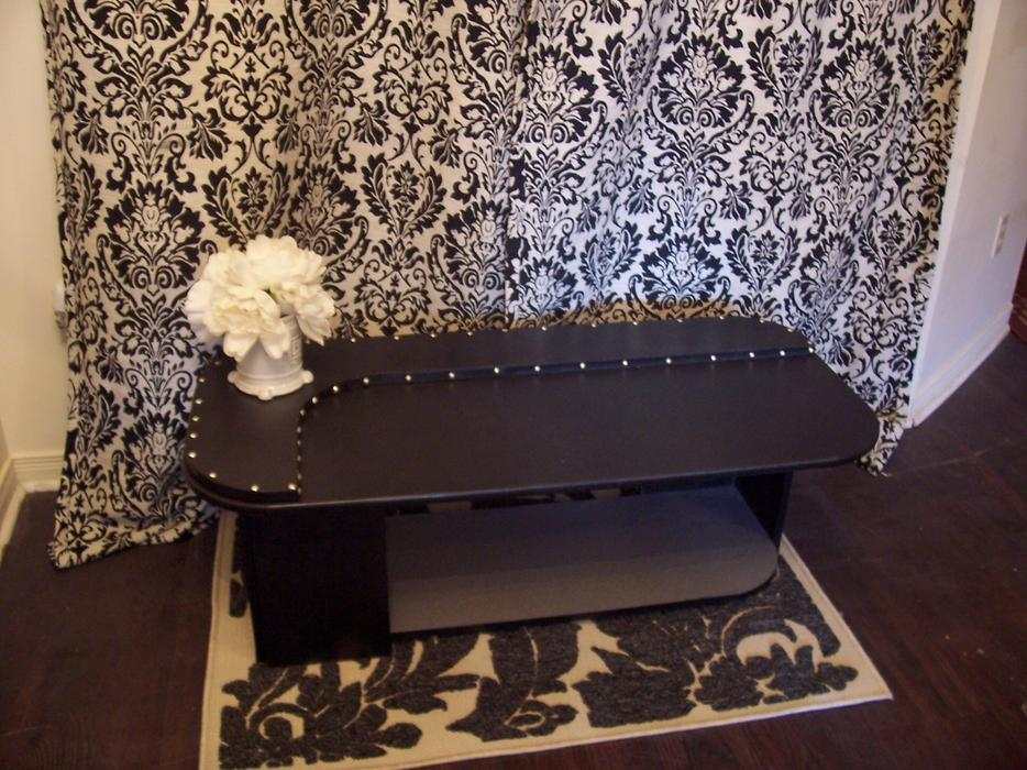 Stylish black and silver studded coffee table for sale for Coffee table with studs