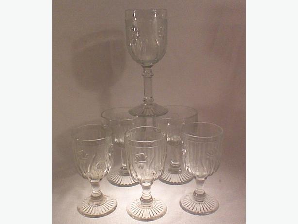 Jeannette Iris Herringbone glassware