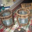 bamboo candle light holders set of 3