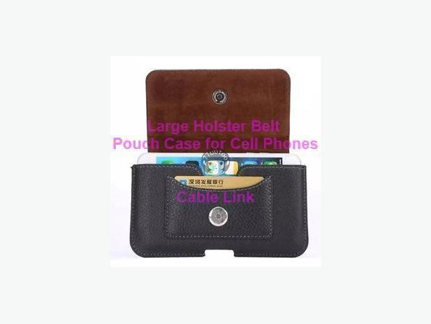 Belt Clip Hip Holster Pouch Sleeve Card Leather Case for Phones
