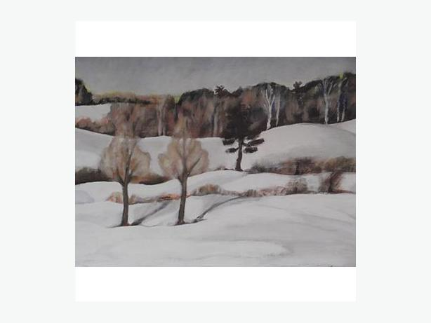 Oil on Board Winter Landscape