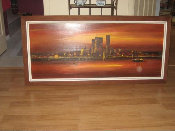 Reduced price Painting Toronto skyline before CN Tower