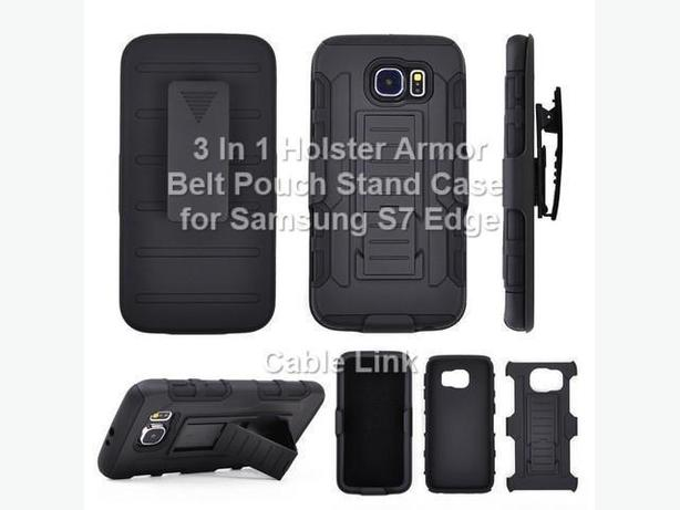 Premium 3 in 1 Armor Stand Holster Case for Samsung S7 Edge