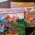 2 Lalaloopsy Dolls and 2 books