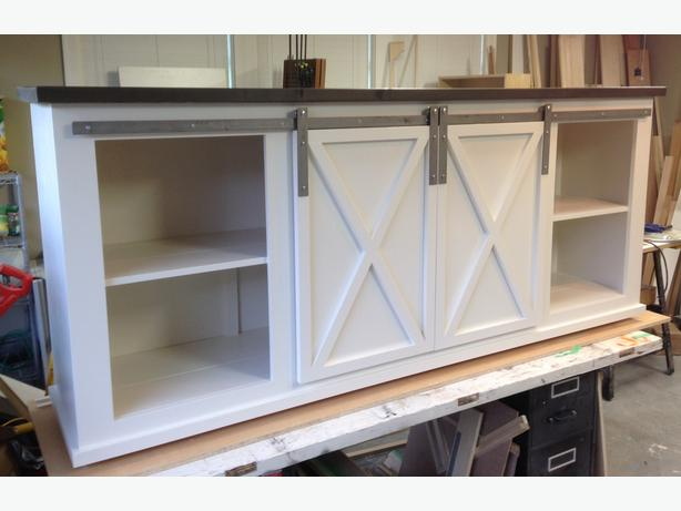 how to build sliding barn doors for console