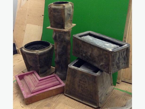 Moulds To Create Sandstone Garden Planters Outside Nanaimo