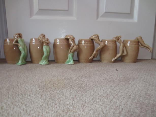 Mugs with Women Stripping as handles