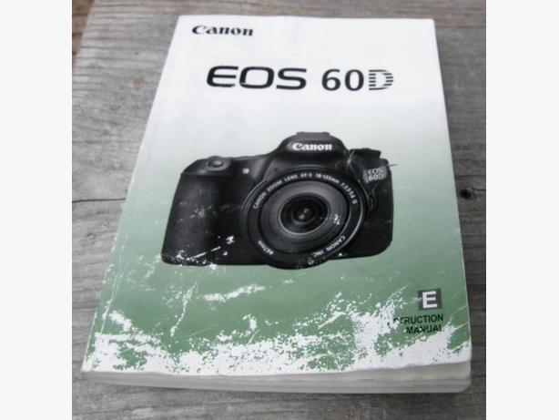Canon EOS 60D Digital Camera Instruction Manual VGC
