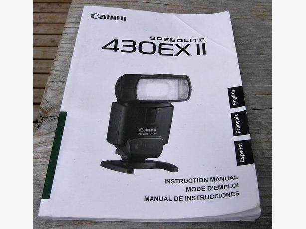 Canon Speedlight 430EX II Camera Flash Instruction Manual VGC