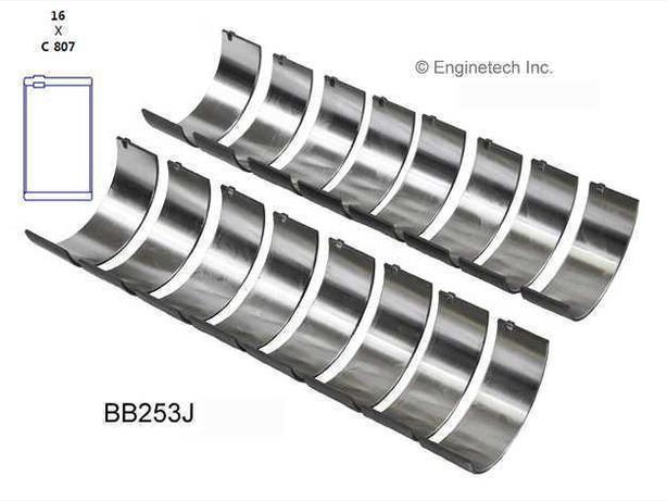 SBC  Rod Bearing Set  (EngineTech  BB253J)  68-02