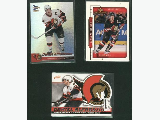 3 Daniel Alfredsson Cards Ottawa Senators