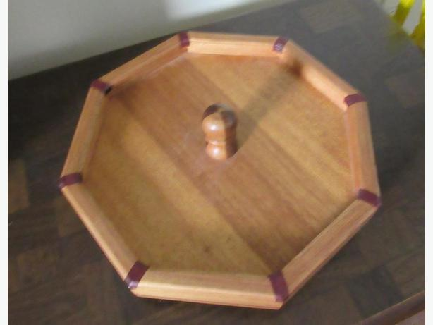 SMALL WOOD HANDCRAFTED LAZY SUSAN