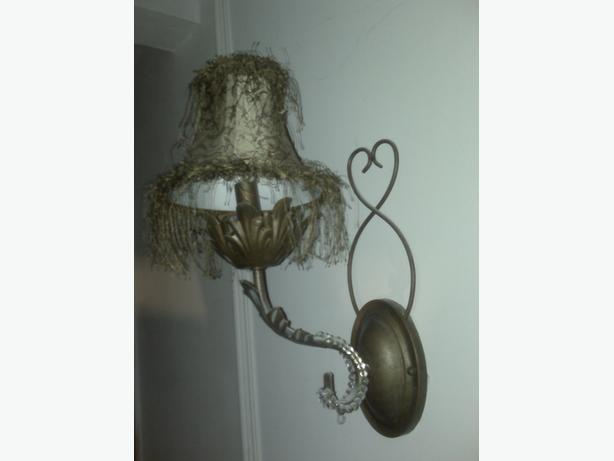 Wall Sconces Used : Pair of Wall Sconces with Lamp Shades Gloucester, Ottawa