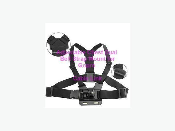 Adjustable Dual Belt Chest Mount Strap Set For Sports Cam, Gopro