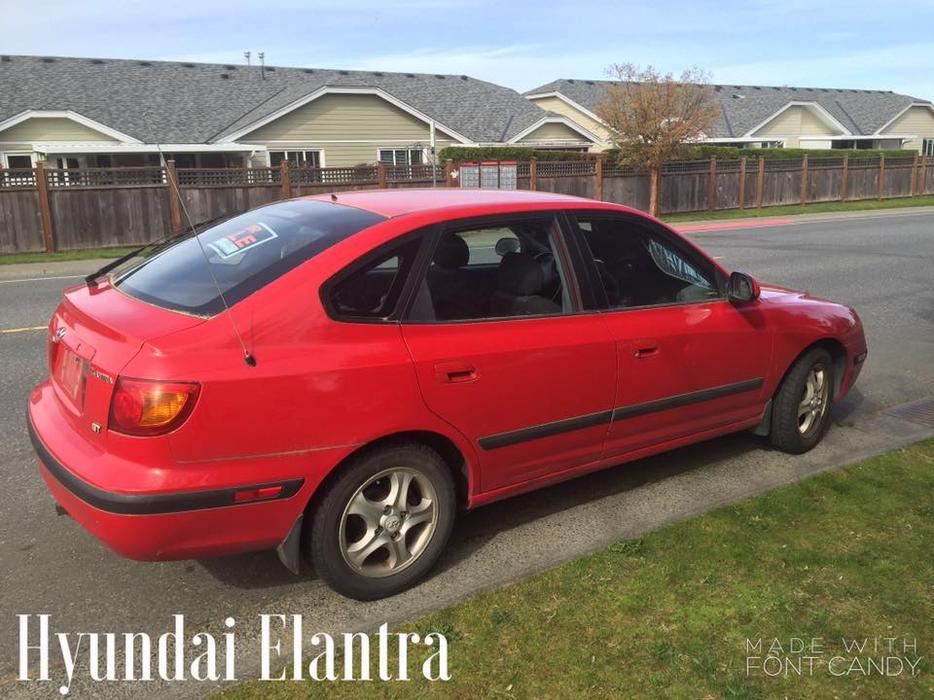 Red Hyundai Elantra Ladysmith Cowichan Mobile