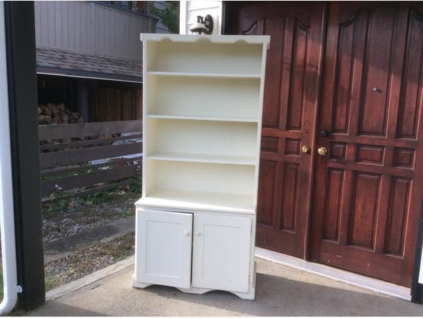 vintage solid pine cabinet