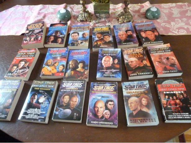 Extensive Collection of Star Trek Paperback books