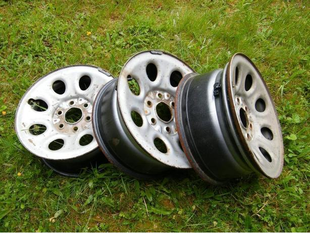 "$45 for all Three 17"" Chevrolet Steel Rims"
