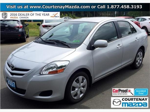 2007 toyota yaris 4 door sedan 4a outside comox valley. Black Bedroom Furniture Sets. Home Design Ideas