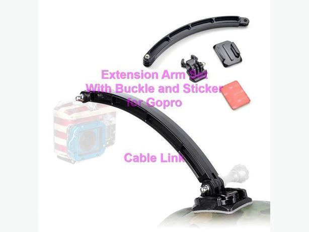 Extension Mount Arm Set With Buckle and Sticker for Gopro