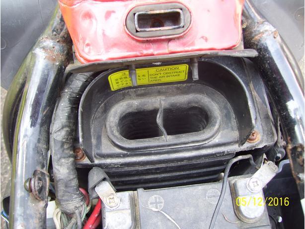 Yamaha Maxim X air box air cleaner air filter airbox