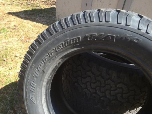 3 BF Goodrich 265/65R18 Truck Tires