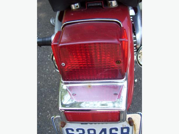 Yamaha Virago Maxim X taillight license plate bracket