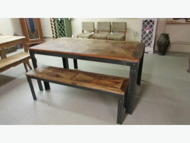 oak and fir harvest tables   painted asian furniture  new container in