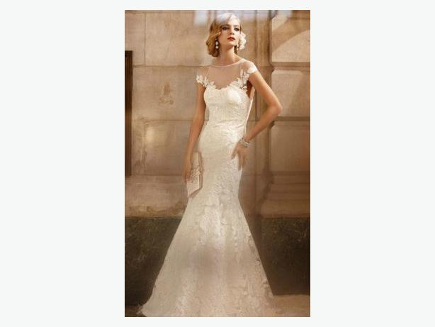 Fit to flare wedding dress