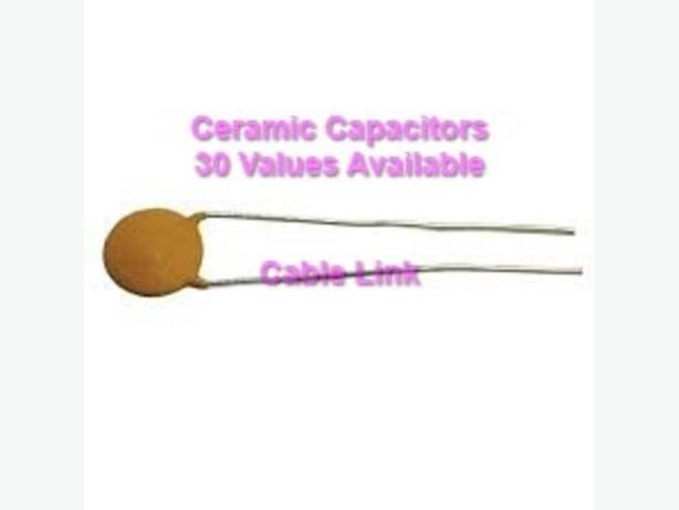 Any 20 ceramic capacitors (30 Values avai. from 2pf-0.1UF)