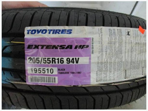 205/55R16 Toyo Exten